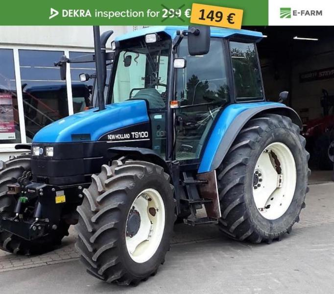 Berühmt Wheel tractor New Holland TS 100, 20081 USD - Truck1 ID - 3216904 &SJ_02