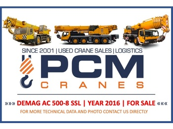 Demag AC 500-8 (Year 2016)  - all terrain crane