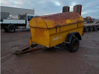 Western Trailers 2000 Litre Single Axle Bunded Fuel Bowser, Manual Pump - construction equipment