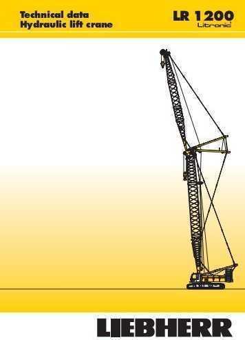 Crawler crane Liebherr LR 1200 crawler crane - Truck1 ID - 3455546