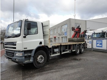 DAF FAT75-360 6x4 FULL STEEL OPEN BODY WITH FASSI 19 - mobile crane