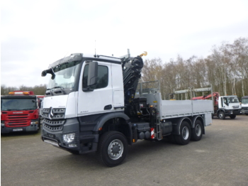 Mercedes Arocs 3333 6x6 + Hiab XS288 EP-5 HiPro + manlift - truck with aerial platform