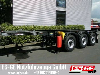 Krone 3-Achs-Containerchassis 20 ft  - container transporter/ swap body semi-trailer