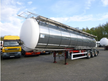 L.A.G. Food / chemical tank inox 34.6 m3 / 2 comp + pump - tank semi-trailer