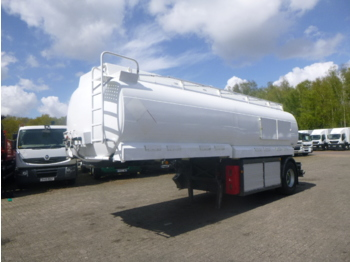 L.A.G. Fuel tank alu 21 m3 / 4 comp + dual counter - tank semi-trailer