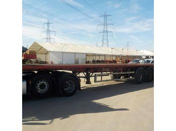 2004 SDC Tri Axle Flat Bed Trailer - curtainsider trailer