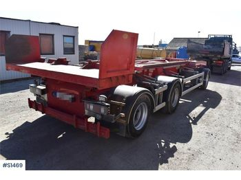 HÜFFERMANN HSAK 30.73, 3-axle Hook Truck Trailer - roll-off/ skip trailer