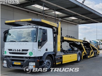 Iveco Stralis AT180S42 4X2 Intarder Standklima Euro 5 Rolfo Aufbau - autotransporter truck