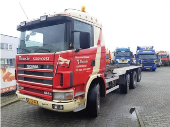 Scania R 124 GB 8X2/4 NA 420 - container transporter/ swap body truck