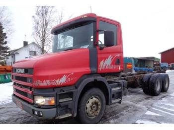 Container transporter/ swap body truck Scania T 124