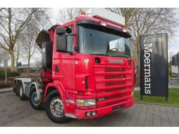 Scania R 124G 420 8x2*6 Kran/Container  - hook lift truck