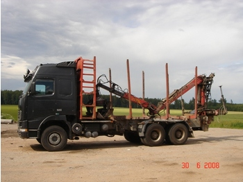 Volvo FH 16 with crane, 6x4 + trailer - truck